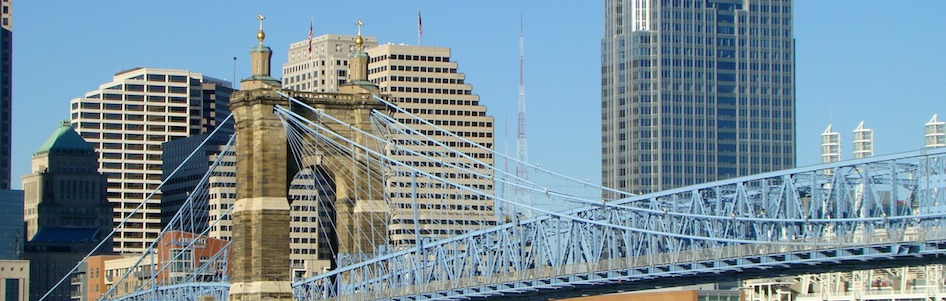 Cincinnati Roebling Bridge Banner